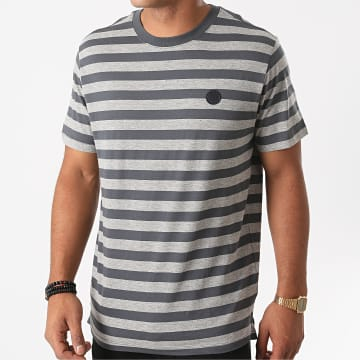 Jack And Jones - Tee Shirt A Rayures Blamorgan Gris Chiné Gris Anthracite