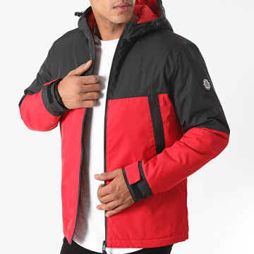 Jack And Jones - Veste Zippée Capuche Beatle Noir Rouge