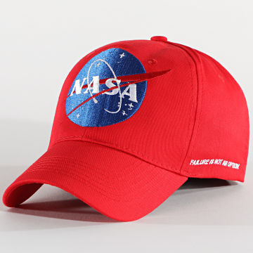NASA - Casquette Flag Ball Rouge