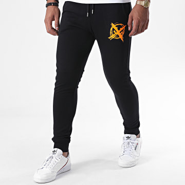 Niro - Pantalon Jogging Sale Mome Noir Orange Fluo