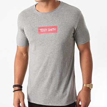 Teddy Smith - Tee Shirt Super Gris Chiné