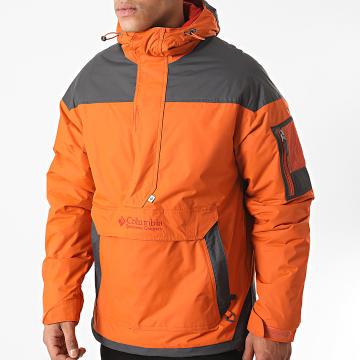 Columbia - Veste Outdoor Capuche 1698431 Orange Gris Anthracite