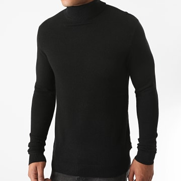 Only And Sons - Pull Col Roulé Mikkel 12 Noir