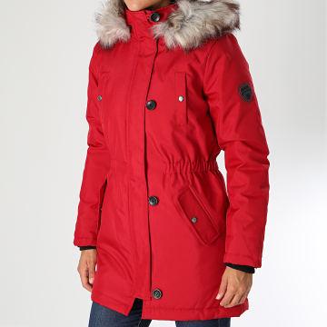 Only - Parka Fourrure Femme Iris Fur Winter Rouge