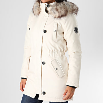 Only - Parka Fourrure Femme Iris Fur Winter Ecru