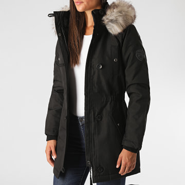 Only - Parka Fourrure Femme Iris Fur Winter Noir