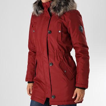 Only - Parka Fourrure Femme Iris Fur Winter Bordeaux