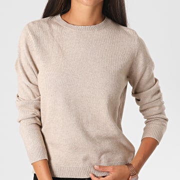 Only - Pull Femme Marco Beige