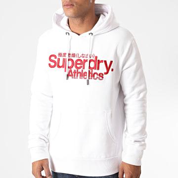 Superdry - Sweat Capuche Classic Athletic M2010417A Blanc