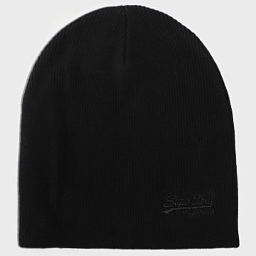 Superdry - Bonnet Orange Label Noir