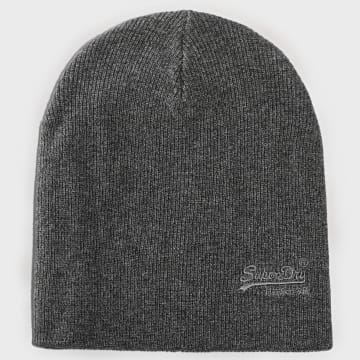 Superdry - Bonnet Orange Label Gris Chiné