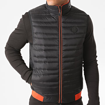 Armani Exchange - Doudoune Sans Manches 8NZQ51-ZNW3Z Noir Orange