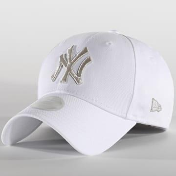 New Era - Casquette Femme Metallic Logo 12489929 New York Yankees Blanc