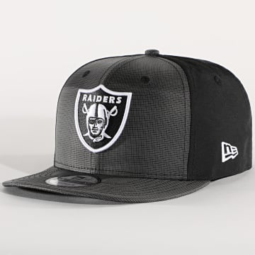 New Era - Casquette Snapback 9Fifty Ripstop Front 12490021 Oakland Raiders Gris Noir