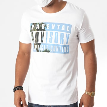 Parental Advisory - Tee Shirt Palm Front Blanc