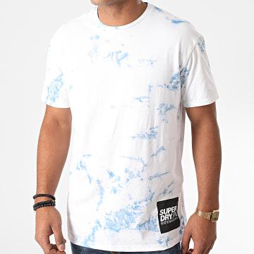 Superdry - Tee Shirt Japan Tie Dye Boxy M1010264A Blanc Bleu