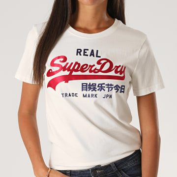Superdry - Tee Shirt VL Duo Satin Entry W1010112A Blanc