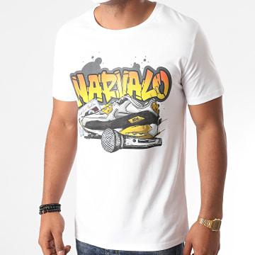 Swift Guad - Tee Shirt Narvalo Graffiti Blanc