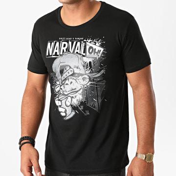 Swift Guad - Tee Shirt Narvalo Graffiti Noir