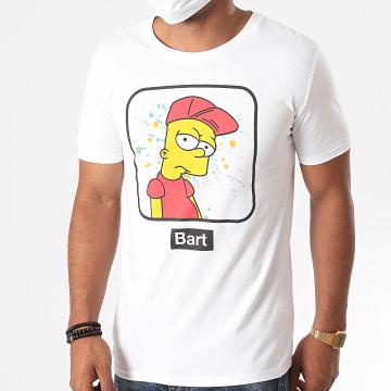 The Simpsons - Tee Shirt Bart Portrait Snapback Blanc