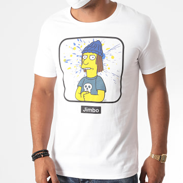 The Simpsons - Tee Shirt Jimbo Portrait Blanc
