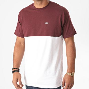 Vans - Tee Shirt Colorblock A3CZDK1O Bordeaux Blanc