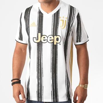 Adidas Performance - Tee Shirt Col V A Rayures Juventus Home EI9894 Blanc