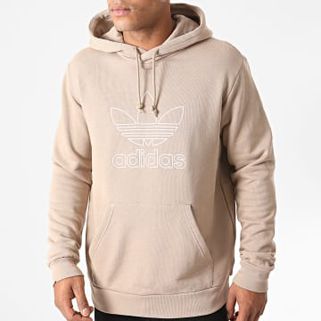 Adidas Originals - Sweat Capuche Trefoil Outline GF4102 Beige