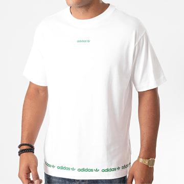 Adidas Originals - Tee Shirt Linear Repeat GD2113 Blanc