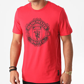 Adidas Performance - Tee Shirt Manchester United DNA FR3839 Rouge
