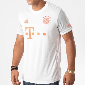 Adidas Performance - Tee Shirt A Bandes FC Bayern Munich GE0583 Gris Clair