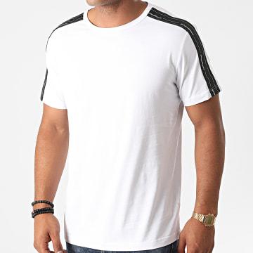 Antony Morato - Tee Shirt A Bandes Basic MMKS01850 Blanc