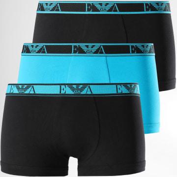 Emporio Armani - Lot De 3 Boxers 111357-0A715 BLeu Clair Noir