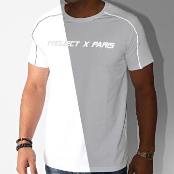 Project X - Tee Shirt 2010128 Blanc Réfléchissant