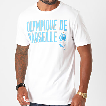 Puma - Tee Shirt OM Football Core Wording 757842 Blanc