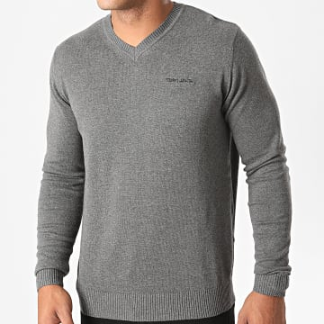 Teddy Smith - Pull Col V Pulser Gris Chiné
