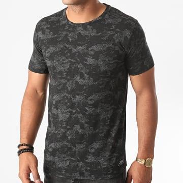 Teddy Smith - Tee Shirt Camouflage Ernie Noir Gris