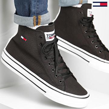 Tommy Jeans - Baskets Montantes Mid Cut Lace Up 0566 Black