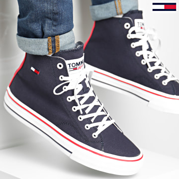 Tommy Jeans - Baskets Montantes Mid Cut Lace Up 0566 Twilight NAvy