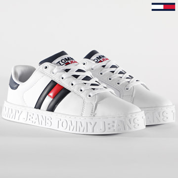 Tommy Jeans - Baskets Cool Warlined Flag 1134 Red White Blue