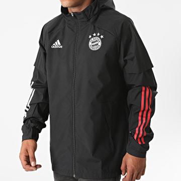 Adidas Performance - Veste Zippée Capuche FC Bayern Presentation FR5331 Noir