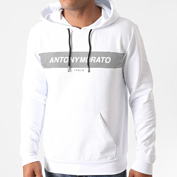 Antony Morato - Sweat Capuche Basic MMFL00700 Blanc