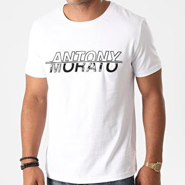 Antony Morato - Tee Shirt Orange Line MMKS01834 Blanc