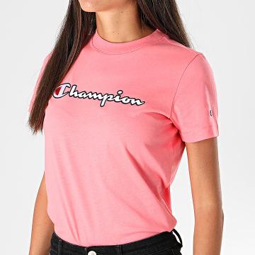 Champion - Tee Shirt Femme 113194 Rose