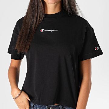 Champion - Tee Shirt Femme Crop 113195 Noir