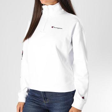 Champion - Sweat Col Zippé Femme 113455 Blanc