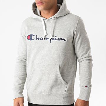 Champion - Sweat Capuche 214718 Gris Chiné