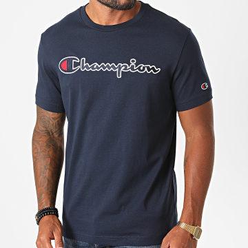 Champion - Tee Shirt 214726 Bleu Marine