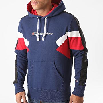 Champion - Sweat Capuche Tricolore 214783 Bleu Marine Rouge Blanc