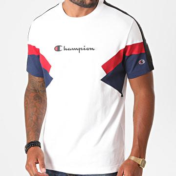 Champion - Tee Shirt Tricolore 214789 Blanc